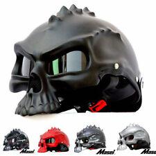 Masei 489 Dual Use Skull Motorcycle Helmet Capacete Casco Novelty Retro Helmets