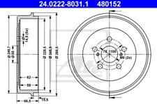 2x Bremstrommel für Bremsanlage Hinterachse ATE 24.0222-8031.1