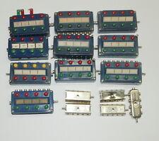 Märklin 7072 neun blaue Stellpulte + Schaltpult und fünf Verteilerplatten 7209