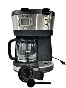 Brim -Trio Multibrew System 12-Cup Coffee Maker Stainless Steel/Black