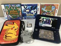 New Nintendo 3DS XL Galaxy Edition with 6 games Pokémon, Kirby, Crafting Mama