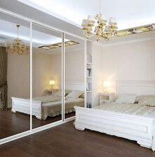 New Single Panel Silver Mirror Door for Sliding Wardrobes -  917 x 2260 mm