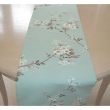 """SMALL 36"""" Coffee Table Runner 90cm Pink Blue and White Blossom Duck Egg 3ft"""