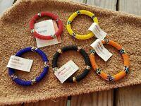 Maasai Beaded Earrings Kenya Africa tear drop rr masi bridal design ornament