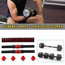 "40cm Dumbbell Bars + Spinlock Collars Unisex Weight Lifting Set1"" Standard"