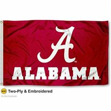 Alabama Official Flag Double Side 2Ply 3x5' Foot Outdoor University Licensed Dbl