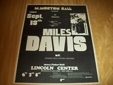 """ORIGINAL 1974 MILES DAVIS CONCERT POSTER Avery Fisher Hall NYC 22"""" x 28"""" 2 Sided"""