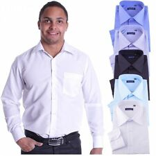 Cotton Blend Long Sleeve No Casual Shirts & Tops for Men