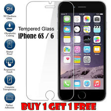 100 Genuine Tempered Glass Film Screen Protector for Apple iPhone 6/6s -