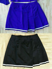 Winter Sale 2 New Purple Black Adult Plus Size Cheerleader Uniform Skirts 36-40""
