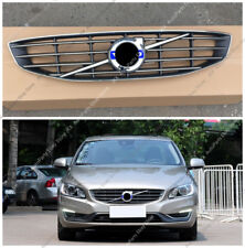 Chrome Front Bumper Middle Grille Grill Replace For VOLVO S60 V60 14-18