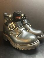 HARLEY DAVIDSON LEATHER WOMEN'S MOTORCYCLE BOOTS SIZE 5