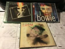 DAVID BOWIE 3 CD LOT: BEST OF, ZIGGY STARDUST THE MOTION PICTURE, OUTSIDE
