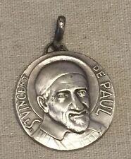 """Vintage St. Vincent De Paul Medal or Necklace Pendant 1 1/8"""""""