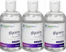 HM GLYCERIN USP 99.5% anhydrous SEALED 6oz ( 3 pack )***