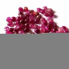 Round Translucent Loose Natural Rubies