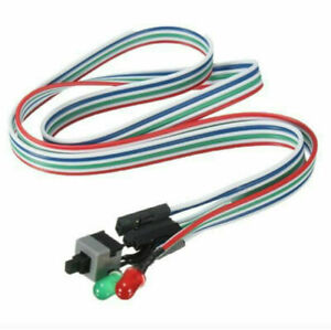 ATX PC Compute Motherboard Power Cable Switch On/Off/Reset Light LED AU
