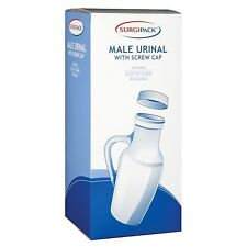 SurgiPack Male Urinal Hospital Quality, Autoclavable With Screw Cap No Spillage