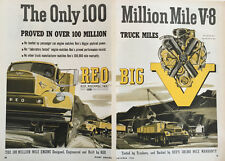 1956 1957 REO 2-page Truck Vintage Advertisement Print Car Ad LG36