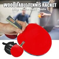 1pcs/Pack Wood Rubber Professional Table Tennis Racket Paddle Bat With Cover Bag