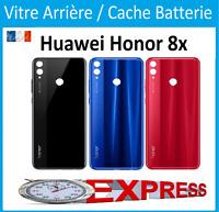 Vitre arrière/Cache Batterie Huawei Honor 8x  Noir/Bleu/Rouge  Logo + Adhesif