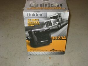 Uniden BC23A 15 Watt Amplified External CB Radio Scanner Communications Speaker