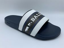 Bally Animals White Black And Blue Rubber Sandals size US 13 Made in Italy