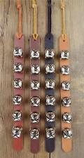 6 ARCTIC SLEIGH BELL LEATHER STRAP_DOOR HANGER_DOG PUPPY TRAINING_Amish Handmade