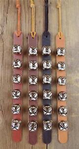 6 ARCTIC SLEIGH BELL LEATHER STRAP_DOOR HANGER_DOG PUPPY TRAINING_Amish Handmade