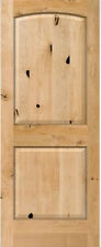 2 Panel Arch Top Knotty Alder Raised Solid Core Interior Wood 6'8 Doors - Slabs