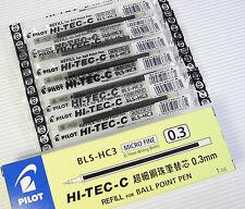 10pcs Pilot Hi-Tec C roller gel pen refill 0.3 Black ink