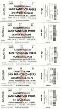 2013 SAN FRANCISCO 49ERS SEASON TICKET STUB SET 10 TICKETS CANDLESTICK LAST YEAR