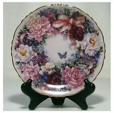 "Collectible Plates""Floral Greetings"" Circle of  Love"" Lena Liu"
