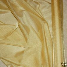 """SPARKLE ORGANZA SHEER FABRIC ANTIQUE GOLD 45"""" BTY , PAGEANT, FORMAL WEAR, CRAFTS"""