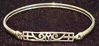 Sterling silver vintage Art Nouveau antique bangle bracelet