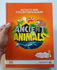 WOOLWORTHS ANCIENT ANIMALS DINOSAURS COMPLETE SET W/ ALBUM 81 CARDS 50+ STICKERS
