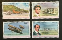 St. Vincent.  75th Anniv of Powered Flight.  SG566/69. 1978. MNH. #AB112