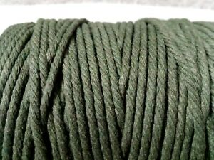 100% Cotton Cord 3mm Twine Lace Rope Soft String Craft Handicrafts Braided UK