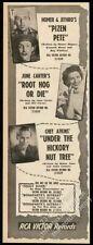1950 June Carter photo Chet Atkins Homer & Jethro RCA music trade print ad