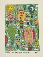 "James Rizzi: original Druck ""I WANT TO TAKE YOU HIGHER"", 3D Vorlage, 2001"