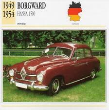 1949-1954 BORGWARD HANSA 1500 Classic Car Photograph / Information Maxi Card