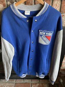 Vintage Men's Majestic New York Rangers Varsity Jacket Sweater XL Very Rare