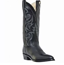 Dan Post Black Mignon Leather Cowboy Boots Sz7
