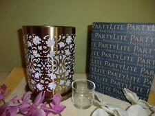 """Partylite Windlicht Goldene Blätter """" P92594 NEU / OVP"""