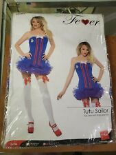 Smiffy's Women's Pin-Up Girl Sailor Blue TuTu Dress Costume, Medium