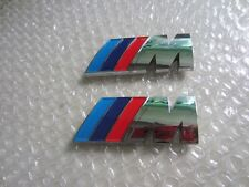 2 x ///M Sport Small Emblem Sticker M Power Badge Metal Chrome BMW Wing 45X15MM