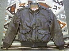 VTG Cooper USAF A-2 Flight Bomber Goatskin Leather Jacket 44 R Made In USA (J86