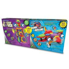 Techno Gears Plastic Rocking Rover and Bionic Biplane 2 Pack Sets For 6+ Years