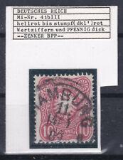 Deutsches Reich Michel Nr. 41 b III Plattenfehler Geprüft