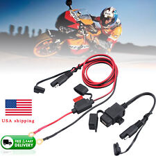 12V Waterproof Motorcycle SAE to USB Phone GPS Charger Cable Adapter Inline Fuse